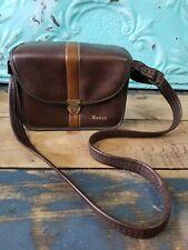 Vintage Kodak Leather Camera Case Bag Brown c1