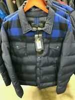 NWT MENS SIZE XXL PENFIELD ROCKFORD PLAID DOWN JACKET NAVY