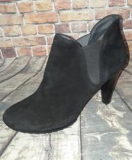 Paul Green Black Suede Ankle Platform Lug Sole Booties boots 8.5 elastic side