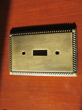 Vintage Ornate BRASS - Single Switch Plate Cover
