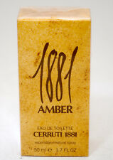 CERRUTI 1881 AMBER EAU DE TOILETTE 50 ML SPRAY OLD FORMULA