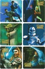 6 x Square Stickers ~ Clone Wars Star Yoda Ahsoka Tano Skywalker Laser Torch ~