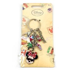 Disney Store Hawaii Key Chain Key Ring with Charms Minnie Mouse