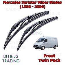 "(95-06) Mercedes Benz Sprinter Front Wiper Blades Windscreen 24"" 22"" Hook Type"