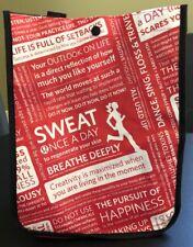 Lululemon Small Red Older Manifesto Reusable Tote Bag w/ Black Snap
