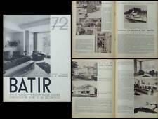 BATIR N°72 1938 DECORATION RUDENAUER GOVAERTS LEBORGNE BAUGNIET, YACHT VAROUNI