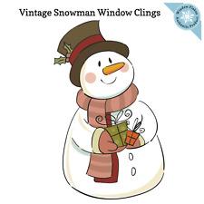 Christmas Vintage Snowman Window Cling