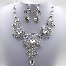 PARURE BIJOUX STRASS  marié collier, boucle d'oreille mariage cérémonie soirée