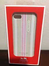 Coach iPhone 5 Case Khaki/Pink Brand New 100% AUTHENTIC!!!!!!!