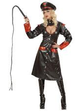Mujer Oficial El Castigador Uniforme Elaborado Vestido Disfraz Halloween Negro