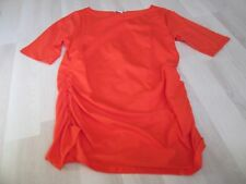 BODEN ORANGE HOLIDAY ROUCHED SIDE TOP SIZE 22