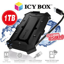 "1000 GB externe Festplatte 2,5""/ 6,35cm SATA - ICY BOX IB-276U3 wasserf. Gehäuse"