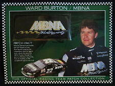 WARD BURTON / MBNA MOTORSPORTS Willabee Ward NASCAR RACING TEAM PATCH Info Card