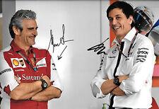 Wolff &  Arrivabene  SIGNED 12x8  F1 Mercedes-Ferrari Team Principal Portrait