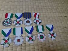 WW2 Japanese Sticker paper lot of 9 MEDAL MILITARIA JAPAN ARMY NAVY BADGE A13