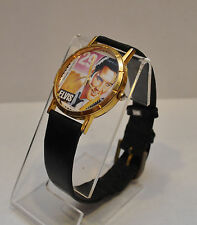 Elvis Presley Commemorative 29 Cent USPS Stamp Watch Leather Band
