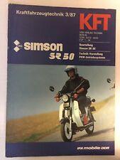 Kraftfahrzeugtechnik KFT 03/1987 Simson SR 50 Simi Roller Moped IFA Geschenk DDR