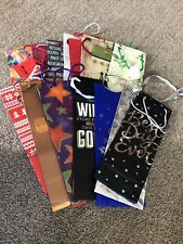 Lot of 15 Various Wine Bottle Gift Bags Assorted Colors Many New Some with Tags