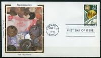 UNITED STATES COLORANO  1991 NUMISMATICS   FIRST DAY  COVER