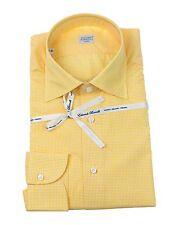 NWT Borrelli Napoli Slim Fit Dress Shirt 17.5 (44) Handmade in Italy NO RESERVE!