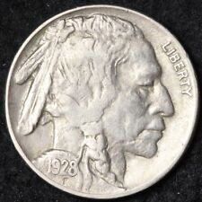 1928 Buffalo Nickel CHOICE AU FREE SHIPPING E211 WE