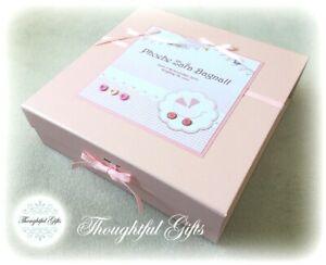 Personalised MEDIUM/ LARGE Baby Girl's Keepsake Box/ Memory Box/ New Baby Gift