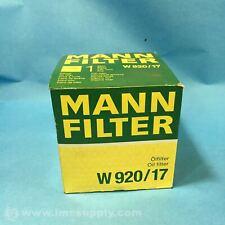 MANN FILTER W 920/17 SPIN-ON OIL FILTER FNFP