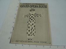 Vint Orig Program -- Robert Hilliard in A FOOL THERE WAS 3-25-1912 grand Opera