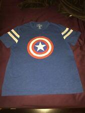 Captain America T-shirt Jersey 2XL LOOSE FIT Shield Marvel Comics