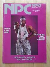NPC NEWS bodybuilding muscle magazine/Mr Olympia LEE HANEY 9-89
