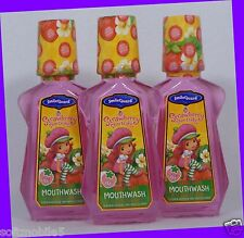 3 SmileGuard Strawberry Shortcake Bubble Gum MOUTHWASH w/ Fluoride 6+ Year Kids
