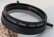 Vivitar 49 mm Réglable Double Cross Filtre + Gratuit UK Envoi