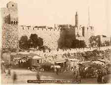 Bonfils. Palestine, forteresse près de la porte de Jaffa  Vintage albumen print