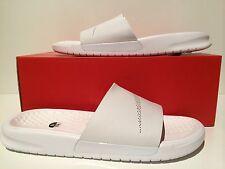New Men's NikeLab Nike Benassi  Slide Lux Sandal Triple White Sz 10  818742 100