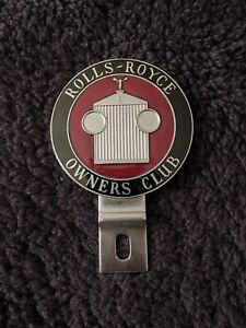 Rolls-Royce Owners Club RROC Bentley Vintage Glass Enamel Badge Bar 1960s 1970s