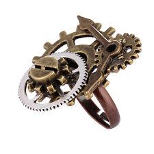 Unisexs Steampunk Bague Ring Anneau Ouvert Alliage Bronzé Bijoux Vintage Cadeau