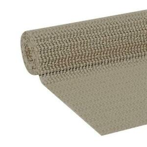 """TAUPE Non Slip Cabinet Shelf Liner Pad Drawer Grip Mat No Skid 12"""" x 60"""" Roll"""