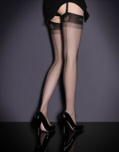Agent Provocateur FULLY FASHIONED Stockings Size A/1 NWT Black Orig. $85 RARE!