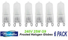 6 x 240V 25W G9 Halogen Light Lamp Globes Bulbs Dimmable Frosted
