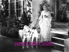 Dolores Costello 8X10 Lab Photo 1920s Sexy Lace Gown Borzoi Dog Portrait