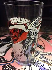 Very Rare Silver Surfer & The Watcher Toon Tumbler 2009 Glass Marvel Oop