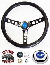 "74-87 Suburb Chevy Pickup Blazer steering wheel BLUE BOW 13 1/2"" CLASSIC CHROME"