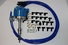 SBF HEI Distributor & 8.5mm Blue Spark Plug Wires 260 289 302 347  Fits SB Ford