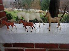 Vintage Lot Of 4 Model Horses Breyer Horse Foal Pony White Horse