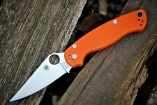 Tactical Folding Knife,Spyderco Paramilitary 2 Stylle Orange Pocketknife NEW