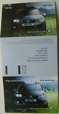 Volkswagen Golf GT Publicity 6 page postcard flyer 2006
