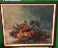 "Oil On Board Still Life Painting By Artist  Trinadad  Rubio. 21 X 25 1/2""."