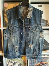 Men's Levi's Waistcoat  distressed  Self-styled Redial Vintage Look 44 chest