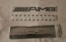 Emblem logo AMG pour Mercedes Benz AMG 3D chrome métallique Autocollant 3M inclu