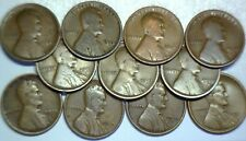 1909 13 14 16d 17ds 18ds 19pds COLLECTION Lincoln Cent 11 pc Coin LOT NO RESERVE